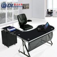 贵阳办公家具桌老板桌钢化玻璃老板桌大班台 主管办公桌