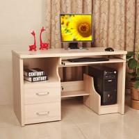 爱尚书亚包物流带书柜台式电脑桌家用组合板式办公桌子9906