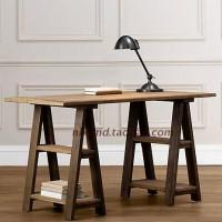 法国乡村铁艺家具仿旧书桌 写字台办公桌 实木做旧写字桌 定做