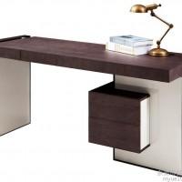 浙江书房家具定做厂家 实木办公桌定制 铭悦家具