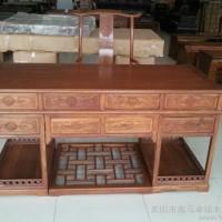 直销东阳木雕红木家具**紫檀非洲黄花梨八宝办公桌